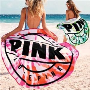 NWT Victoria's Secret Pink Circle Towel